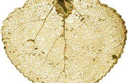 Lisc osiki w zlocie 18kt
