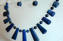 Lapis lazuli z pirytem, unikatowy zestaw