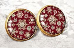 Kolczyki świąteczne na prezent śnieżynki