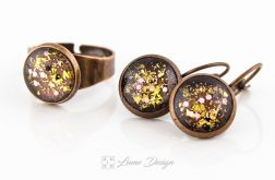 Komplet Glitter - kolczyki / pierścionek