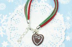 Świąteczna bransoletka z SERDUSZKIEM