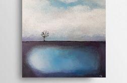 Samotne drzewo-obraz