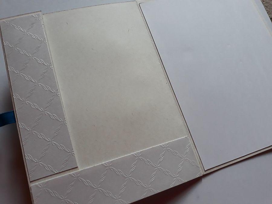 Kartka na chrzest kopertówka - Miejsce na kopertę