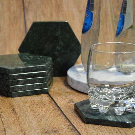 Podstawka kamienna, marmurowa, podkładki pod