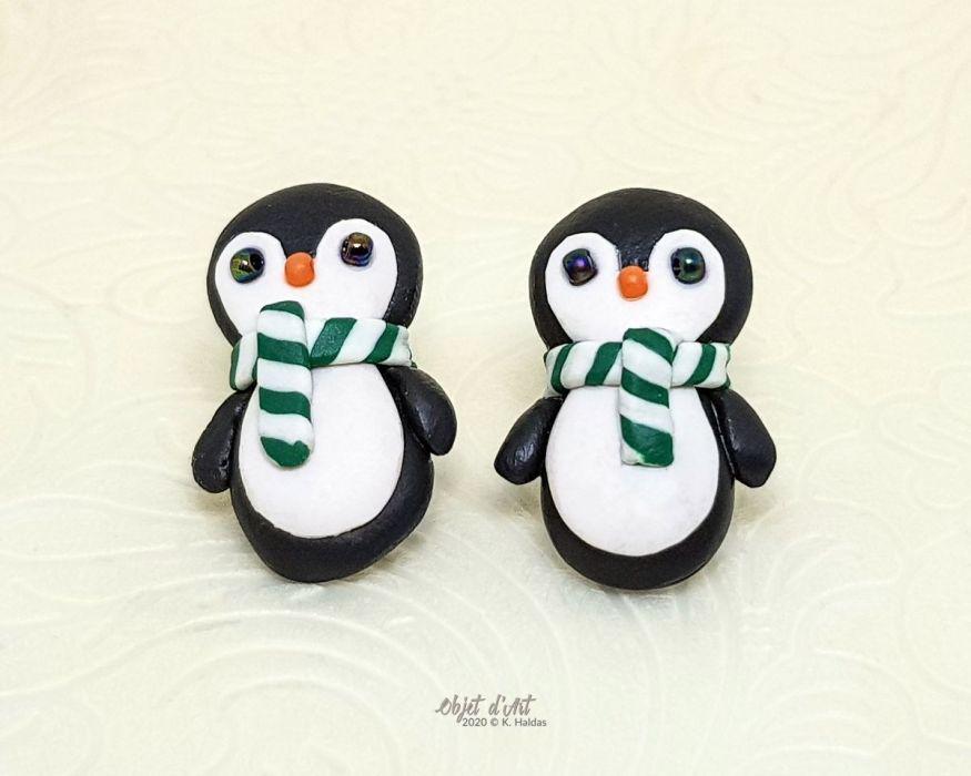 Kolczyki Świąteczne Pingwinki w Szalikach