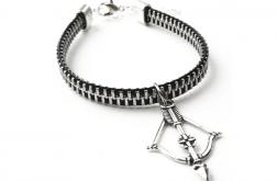 Designerska bransoletka łuk i strzała
