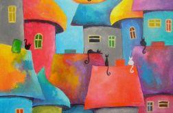 Obraz - Bajkowe miasteczko