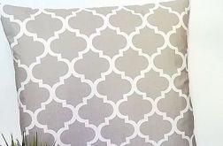 Poduszka dekoracyjna, szare maroko,50x50cm.HD