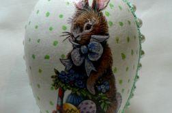 Jajko (16cm) zając retro