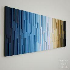 """Obraz drewniany 3D Mozaika drewniana """"Rytm"""""""