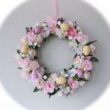 REZERWACJA Wielkanoc- wianek pastelowy róż i krem