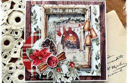 Pada śnieg - kartka bożonarodzeniowa