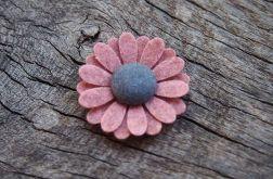 """Momilio spineczka kwiatuszek """"cameo pink"""""""
