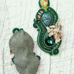 Kolczyki Leśna magia - zielony sutasz