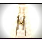 Kolczyki z łańcuszkiem Whitegold - Kolczyki Whitegold - eleganckie i wyraziste