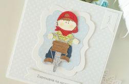 Zaproszenia na roczek - rowerzysta 2