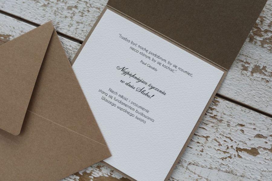 Kartka na ślub ręcznie robiona -