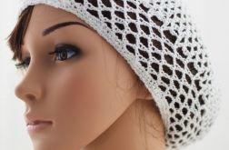 siatka plażowa biała, czapka