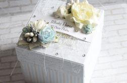 Ślubne pudełko - szaro-niebieskie