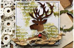Pan Renifer - kartka bożonarodzeniowa
