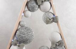 Drewniana prosta choinka w odcieniach popieli LED