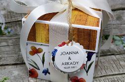 Ślubny exploding box-kwiaty polne