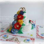 Ślubny box z tortem, folk