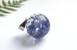 kula - wisiorek 25 mm z niezapominajkami