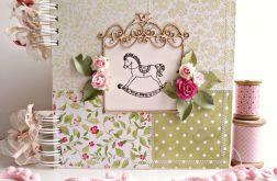 Zielono-różowy z konikiem