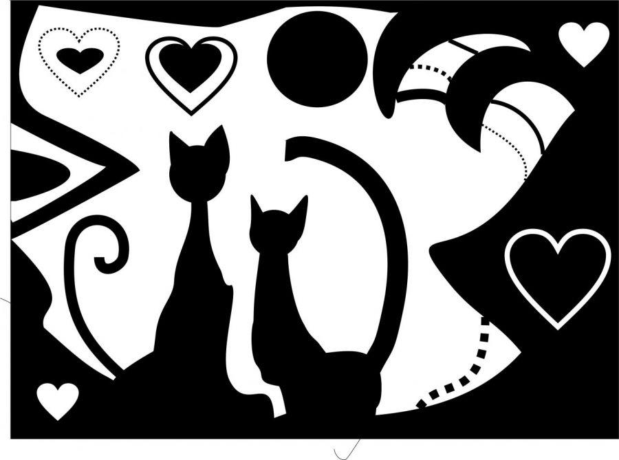 zakochane koty grafika