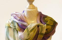Obszerny jedwabny szal colorful