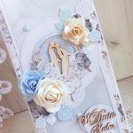 Kartka ślubna DL Precious Moment 1 GOTOWA -