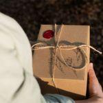 Kubek ręcznie malowany - motyw gór w nocy - Opakowanie prezentowe