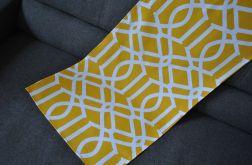 Bieżnik 44 x 120 cm - żółte arabeski