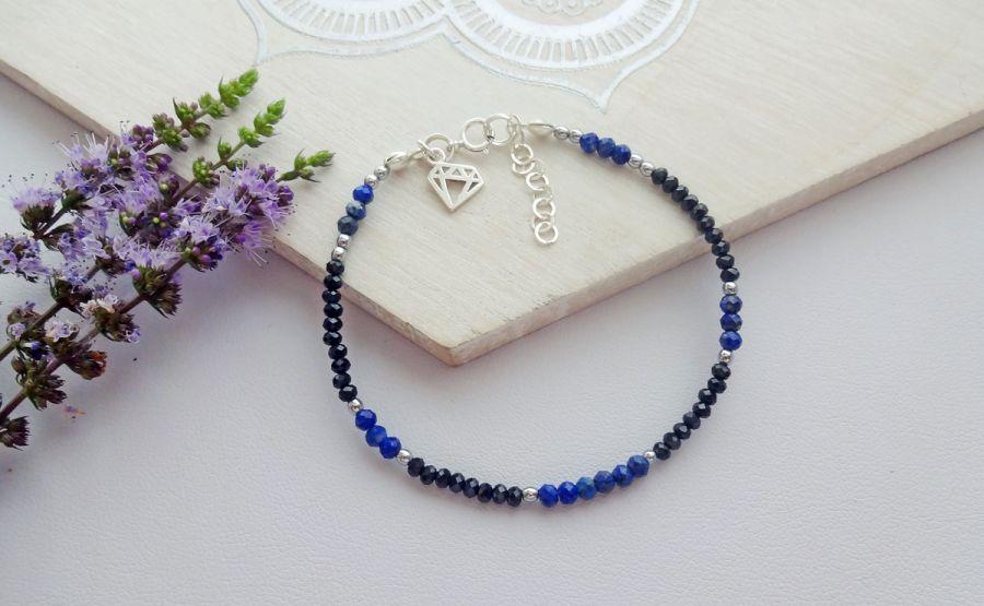 Bransoletka Spinel, Lapis Lazuli i Hematyt
