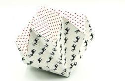 Bombka origami diament z papieru renifery