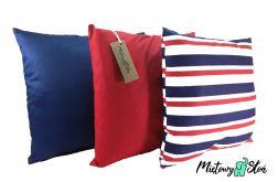 Komplet 3 ozdobnych poduszek - paski