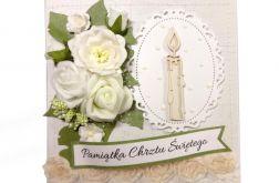 Kartka na Chrzest ze świecą #391
