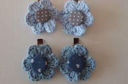 Niebieskie spineczki