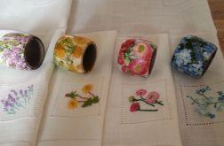 Serwetki Kwiaty Polne z pierścieniami