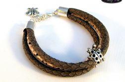 Wężowa bransoletka z rzemieni
