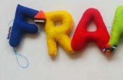 Filcowe imię FRANIO - na zamówienie dla Pani Ani