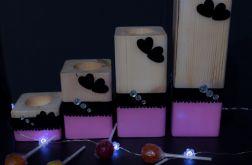 Świeczniki cukierkowe Love