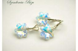 Komplet Swarovski Snowflake Crystal AB