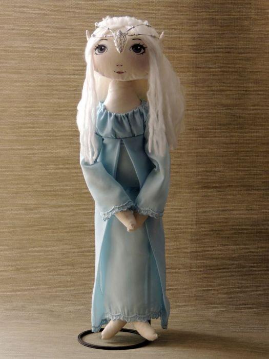 Lalka szyta-elfowa Mairi