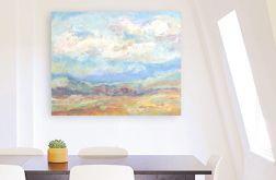 Chmury-obraz olejny na płótnie pejzaż