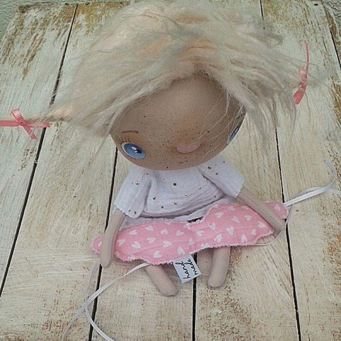 ANIOŁEK lalka tekstylna, cute angel 9, OOAK -
