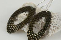 W kratkę - mosiężne kolczyki 110000-11