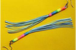 Długie kolczyki ze sznurka