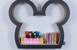 Półka na książki zabawki MYSZKA | czarny